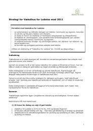 Strategioplæg om Væksthuset 2011 - Væksthus for Ledelse