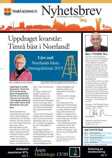 Uppdraget kvarstår: Timrå bäst i Norrland! - Timrå kommun