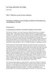 Mål 3: Bibelen og den kristne tradisjon