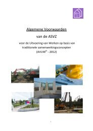 ASVZ Alg. voorwaarden traditionele samenwerkingsverbanden