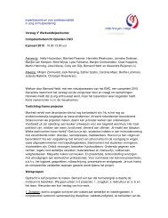 3e verslag CGO werkveld 08-01-10 - Edith Maryon College