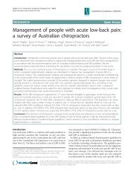 Management of people with acute low-back pain - Chiropractic ...