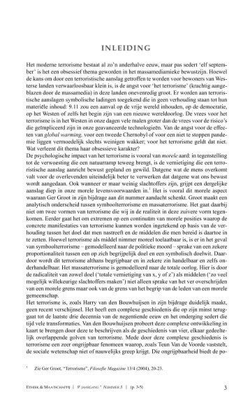 INLEIDING - Ethiek en Maatschappij