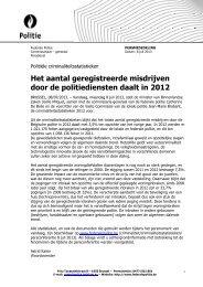 Het aantal geregistreerde misdrijven door de ... - Federale politie