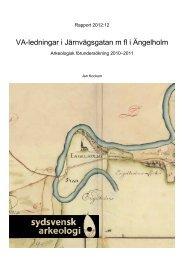 VA-ledningar i Järnvägsgatan m.fl, Ängelholm, Ängelholms kommun ...