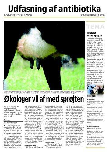 Udfasning af antibiotika - Økologisk Landsforening