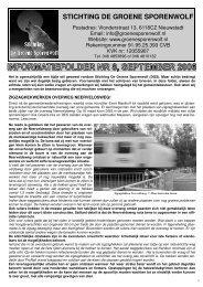 Folder 8 - Stichting De Groene Sporenwolf