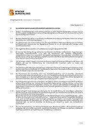 Allgemeine Bedingungen für Einkäufe und ... - Netz Burgenland
