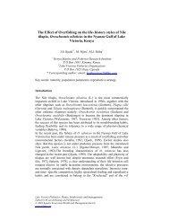 history styles of Nile tilapia, Oreochromis niloticu... - AEHMS ...