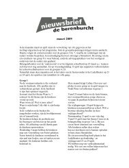 maart 2009 - OBS de Berenburcht