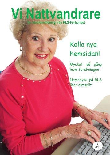 Vi Nattvandrare nr 2 2013 - RLS-Förbundet