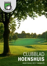 Clubblad januari – februari 2013 - Hoenshuis Golf