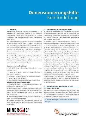 Dimensionierungshilfe - Luftwechsel - Die Plattform für ...