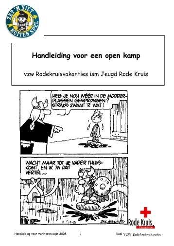 Handleiding voor een open kamp - Jeugd Rode Kruis