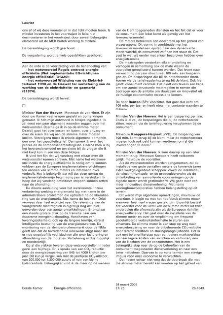 voortzetting behandeling - Eerste Kamer der Staten-Generaal