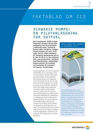Schwarze pumpe en pilotanläggning för oxyfuel (PDF ... - Vattenfall