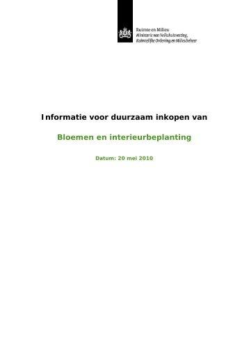 Informatiedocument Bloemen en interieurbeplanting - Pianoo