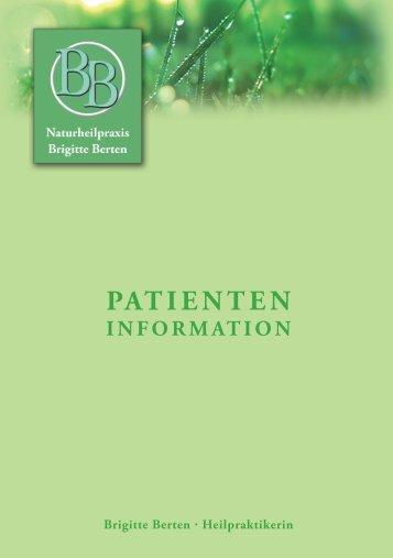 Patienten Information - Naturheilpraxis Brigitte Berten