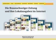 Ihre Platzierungsmöglichkeiten - Braunschweiger Zeitungsverlag