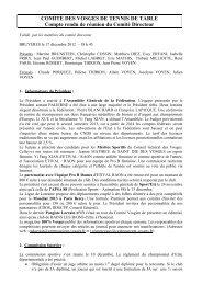 COMITE DIRECTEUR - Site officiel du Comité des Vosges de ...