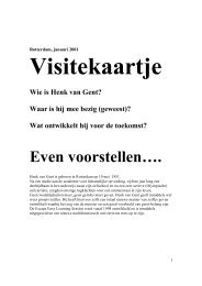 Even voorstellen…. - Henk van Gent