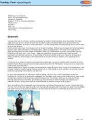 Frankrig - Paris- rejsemålsguide Generelt - T3T.NO
