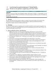 Verslag openbare vergadering H.Paulus d.d. 19-03-2013