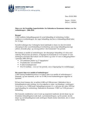 Bilag - Prognose for det fremtidige kapacitetsbeho - Københavns ...