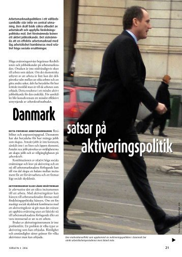 Danmark satsar på aktiveringspolitik (pdf)