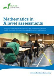 Mathematics in A level assessments - Nuffield Foundation