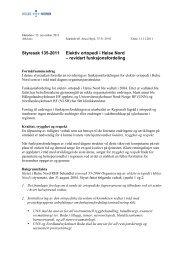 revidert funksjonsfordeling - Helse Nord