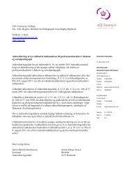 VIA University College Att. - Danmarks Akkrediteringsinstitution