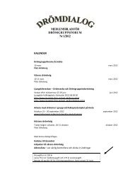 MEDLEMSBLAD FÖR DRÖMGRUPPSFORUM Nr 1/2012