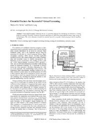 Essential Factors for Successful Virtual Screening - Research