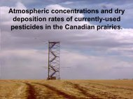 Pesticides in Canadian Prairie Air The Ups and Downs - Western ...