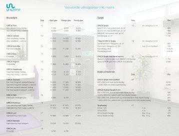 Vejledende udsalgspriser inkl. moms - Scanglas