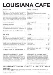 Se ugens menu - Louisiana