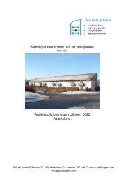 Bygnings rapport med drift og vedligehold ... - Ulfbuen