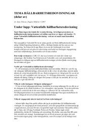 Tema Hållbarhetsredovisning - Anne Nilsson