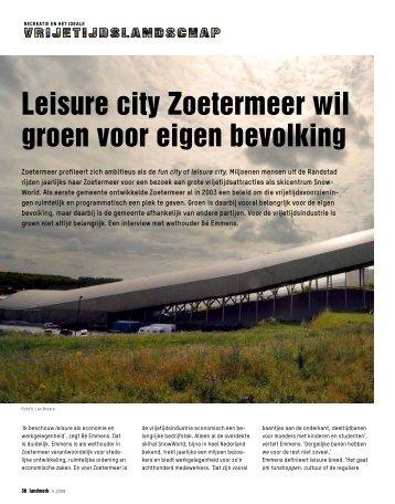 Leisure city Zoetermeer wil groen voor eigen bevolking