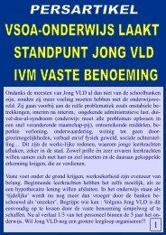 VSOA-Onderwijs laakt standpunt Jong VLD ivm. vaste benoeming