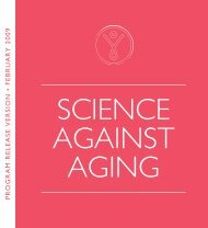 Science against Aging - Unraveling the Secrets of Human Longevity