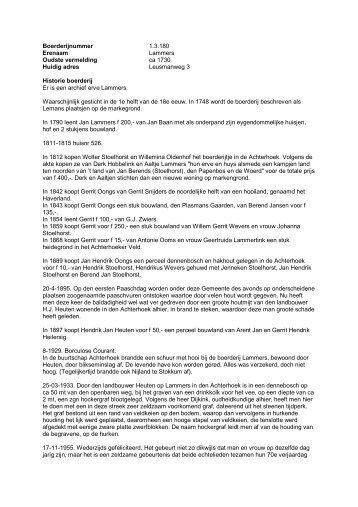 1.3.180 Boerderij Lammers - Hofmarken