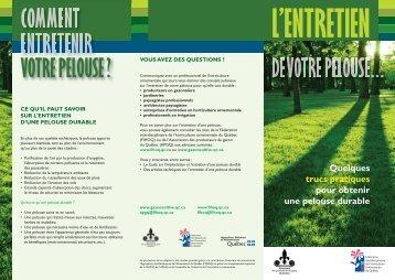entretien - La pelouse durables