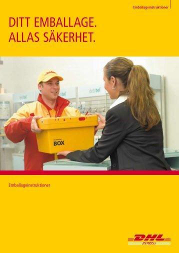 Förpackningsinstruktion - DHL
