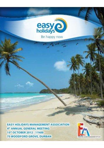 15 October 2012 - Easy Holidays
