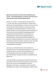 Bayerninvest holt Eberhard Schwarz als Leiter Marketing und Vertrieb