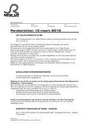 Persberichten 13 maart 2010 - Stad Roeselare