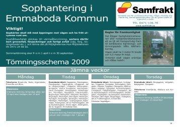 Sophantering i Emmaboda Kommun
