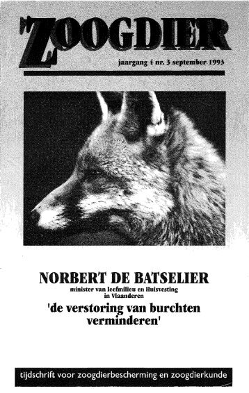 NORBERT DE BATSEtiER - Nieuw in de Zoogdierwinkel